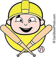 工程師, 卡通, 吉祥人, 棒球