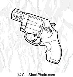 左輪手槍, 槍