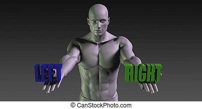 左, 或者, 權利