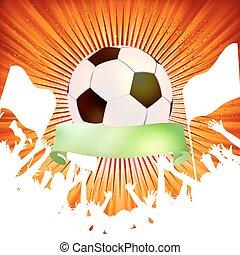 巨大, 人群, 慶祝, 足球, game., eps, 8