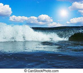 巨大, 波, 大西洋