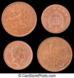 巨大, 硬币, 反面, 捷克人, obverse, republic., 不列颠