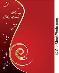 巨大, 红, 圣诞节, 背景