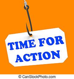 巨大, 鼓励, 钩, 意思, 时间, 行动, 灵感