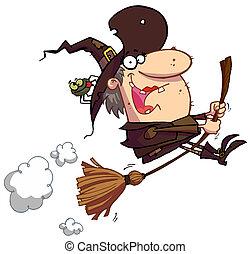 巫婆, 掃帚, 騎