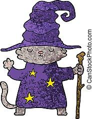 巫術師, 卡通, 貓