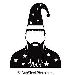 巫術師, 帽子, 星