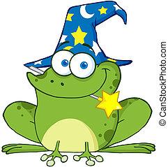 巫術師, 青蛙, 由于, a, 魔棒