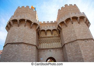 巴倫西亞, torres, de, serrano, 塔, 在, 西班牙