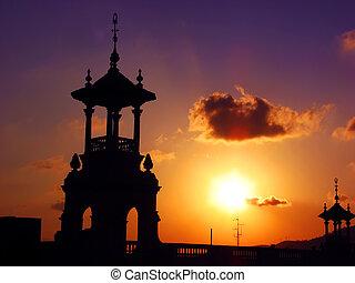 巴塞罗那, 黄昏