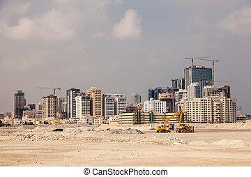 巴林, manama, 地平線, 城市