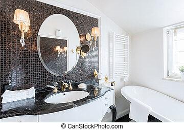 巴罗克艺术风格, 浴室, 在中, 住处