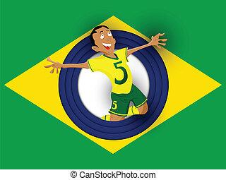 巴西, 足球運動員, 由于, 制服