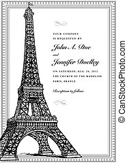 巴黎人, 框架, 矢量, 裝飾華麗