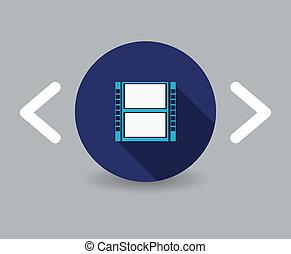巻き枠, の, フィルム, アイコン