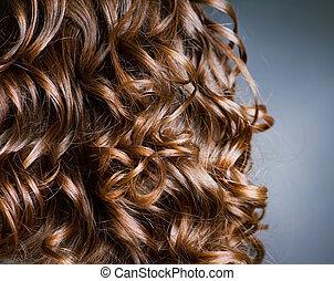 巻き毛, hair., hairdressing., 波