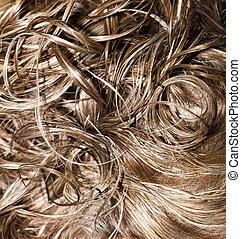 巻き毛, hair., hairdressing., 波, .natural, 毛