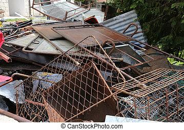 市の, ゴミ捨て場, の, ferrous, 材料, 中に, ∥, recycler, ∥ために∥, ∥, coll