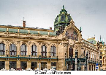 市の, プラハ, 家