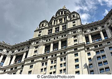 市の, 建物, -, ニューヨーク市