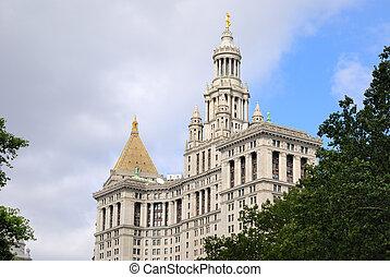 市の, 建物, 中に, ニューヨーク市