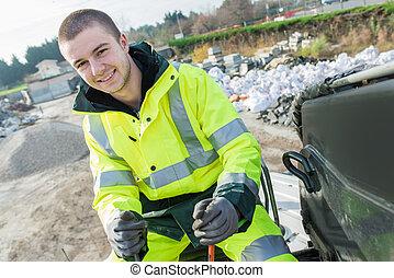 市の, dustman, 労働者