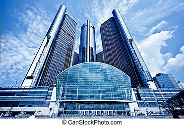 市區, 底特律, gm, hedquarter