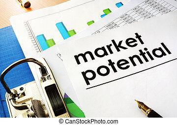 市場, 潜在性, concept.