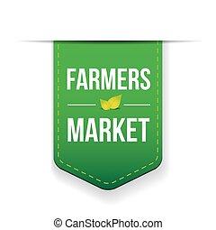 市場, 緑, 農夫, リボン