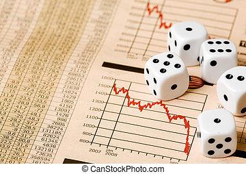 市場, 賭け, 株