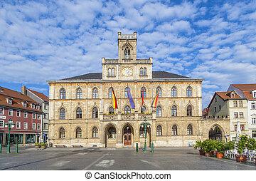 市庁舎, weimar, 中に, ドイツ, ユネスコ, 世界, 相続財産, サイト