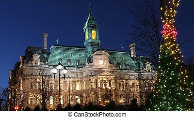 市役所, モントリオール, 夕闇