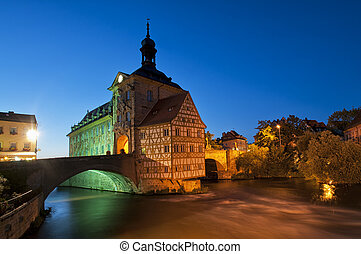 市役所, night., bamberg