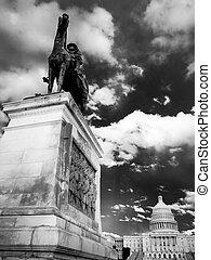 市民, 記念, ワシントン, 戦争, dc