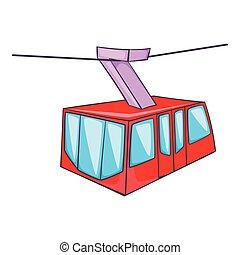 市街電車, アイコン, スタイル, 漫画, イスタンブール