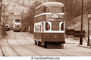 市街電車, バス, 英語