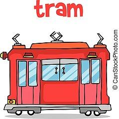 市街電車, ベクトル, 輸送, イラスト