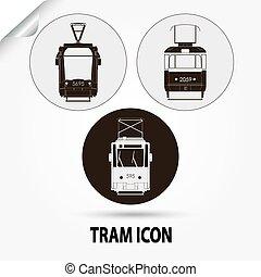市街電車, ベクトル, 都市, 輸送