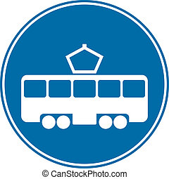 市街電車, 停止道印