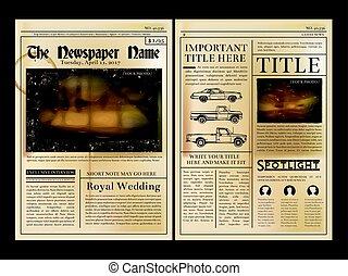 布局, design., 首頁, ......的, 葡萄酒, 報紙。, 矢量, 插圖, 由于, 地方, 為, 你, 正文