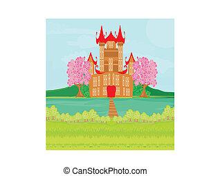 布朗, 城堡, 河, 公主