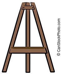 布朗, 木制, 工艺, 或者, 艺术, 画架