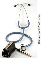 布朗, 醫生的袋, 由于, 聽診器