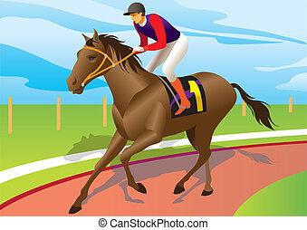 布朗, 骑, 赛马职业骑师, 马