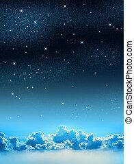 布满星星的天空