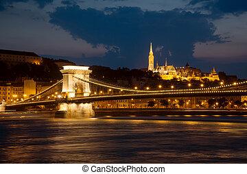 布達佩斯, 夜晚