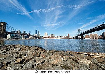 布魯克林, 看法, 地平線, 曼哈頓