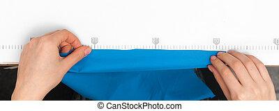 布, 線, 畫, 桌子, 措施