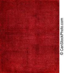 布, 赤い背景