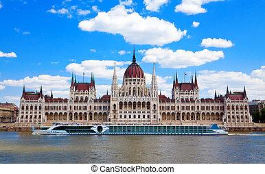 帆船, 前面, the, 議會, 布達佩斯